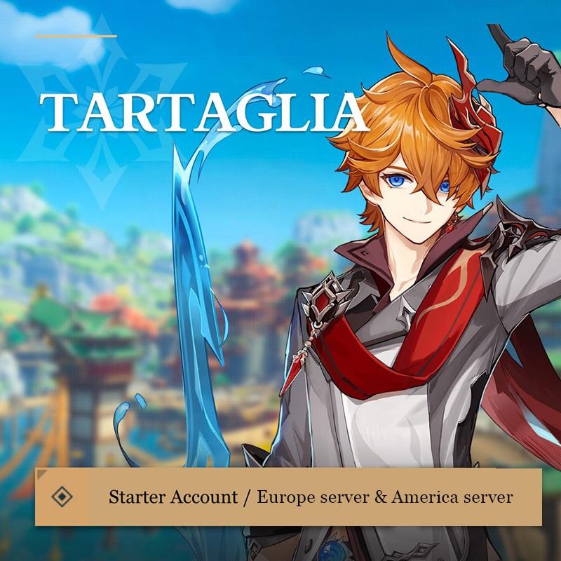 5 Star VENTI Starter Characters Genshin Impact Account Europe America Asia Server Level 5-10 KLEE ZHONGLI TARTAGLIA
