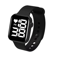 Sport Digital Watch Women Men Square Led Watch Silicone Electronic Watch Women's Watches Clock Fitne