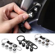 Edelstahl für Mitsubishi RALLIART ASX Lancer L200 Pajero Outlander Eclipse Reifen Ventil Kappen Schlüsselanhänger Rad Reifen Dekoration
