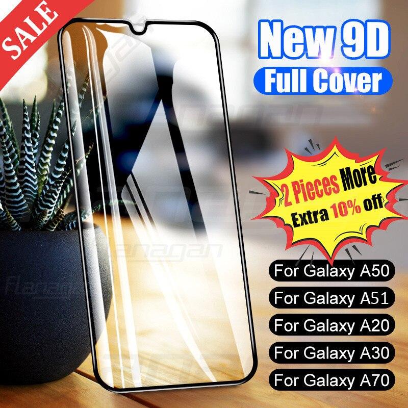 9D Schutz Glas Auf Für Samsung Galaxy A50 A40 A30 A10 A20E A60 A70 A80 A90 Gehärtetem Glas Für Samsung m10 M20 A20 A51