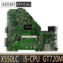 Akemy X550LC 노트북 마더 보드 ASUS X550LC X550LD X550LN 테스트 메인 보드 NO RAM I5-CPU GT720M