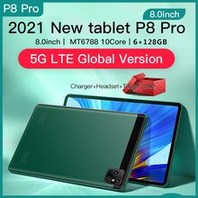 Pad P8 Android Tablets 6GB RAM 128GB ROM Tablete 8.0 inch 1280 x 800 Tablettes Android 10 Tableta 4G