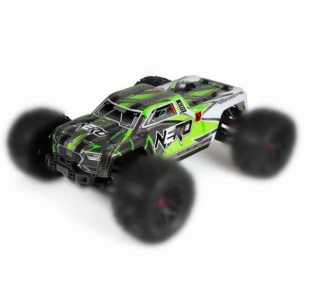 Original ARRMA AR406029 NERO shell body BLUE 6S BLX PAINTED DECALED TRIMMED Out of print collect for ARRMA NERO Monster truck enlarge