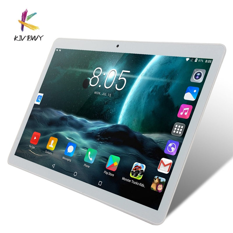 KIVBWY 10.1 inch Tablet PC 2GB+32GB Wi-Fi 3G Phone Call Network Smart Tablet Bluetooth Phablet Four Core Android 8.0 Tablets