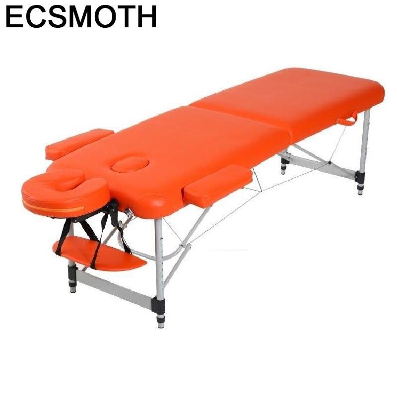 Cadeira-Silla Masajeadora Plegable, Mueble De belleza para salón, cama De Masaje