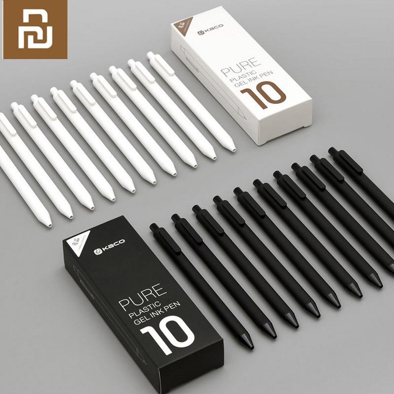 Bolígrafo Original Youpin KACO de 0,5mm para firmar, tinta Gal, escritura suave, duradero, recarga negra para firmar, 10 unids/lote
