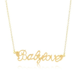 Europe/US fashion babylove Letter pendant lovely English word necklace gift for mom/girlfriend party jewelry