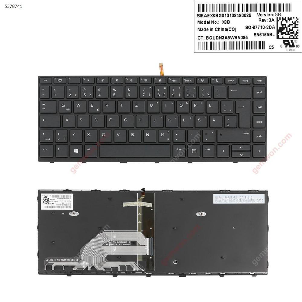 Original Keyboard GR Standard Notebook computer replacement keyboard for HP Probook 430 G5 440 445 BLACK FRAME WIN8