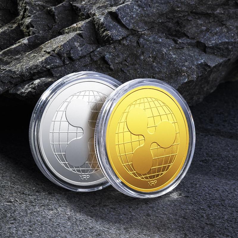 Подарок для криптовалюты XRP, монета ряби, сплав, памятная круглая монета с покрытием, Майнер, художественная коллекция, сувенир