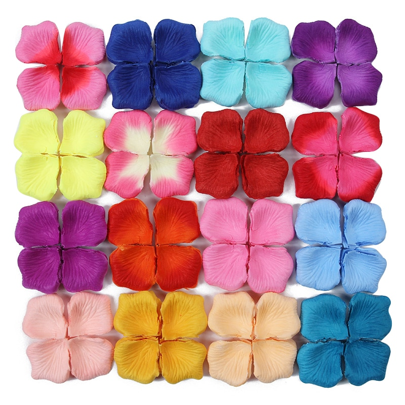 100pcs Silk Fabric Rose Flower Simulation Rose Petals For Wedding Party Decor Fake Petal Decorative