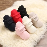 2021 new plush double color matching baby shoes warm and comfortable baby boots 0 18 months newborn toddler shoes