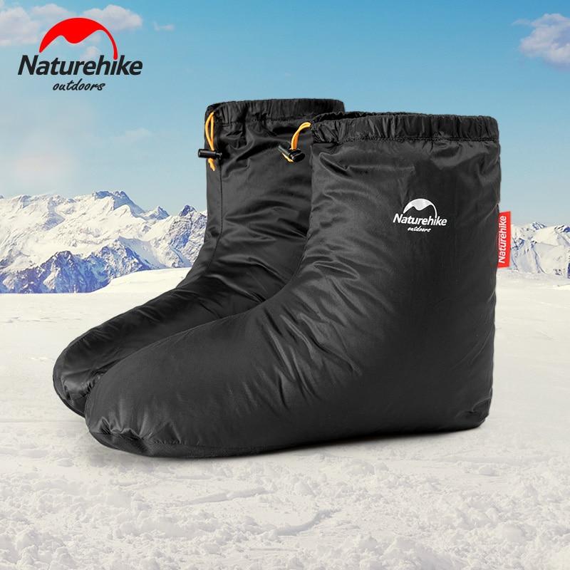 Naturehike-حذاء أوزة أبيض للرجال والنساء ، مقاوم للماء ، داخلي ، شتوي ، غطاء قدم دافئ