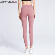 Sport Leggings Women High Waist Yoga Pants Quick Dry Pocket Leggins Peach Hip Elastic Running Trousers Female Gym Fitness Tights