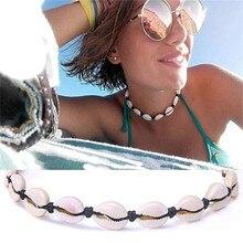 Chandler Cowire collar de concha marina gargantilla Concha Mar Océano joyería de playa Boho bohemio de verano gargantilla de bisutería mar Shell Collier