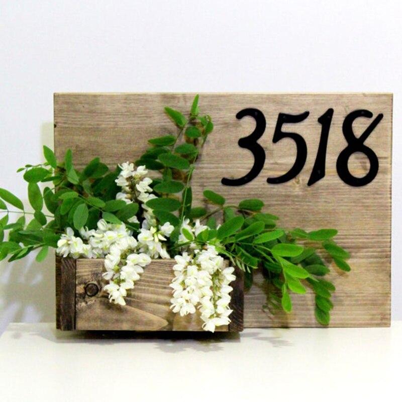 Número de casa moderno de 10cm, casa endereço números de caixa de correio para casa digital porta ao ar livre sinal 4 Polegada. #0-9 alialumum preto