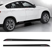 2pcs m performance car side stripes skirt sticker for bmw x6 f16 m f86 body decor carbon fiber vinyl film decal car accessories