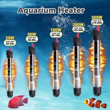 25W/50W/100W/200W/300W Automatic Aquarium Submersible Fish Tank Water Heater Temperature Heating Rod