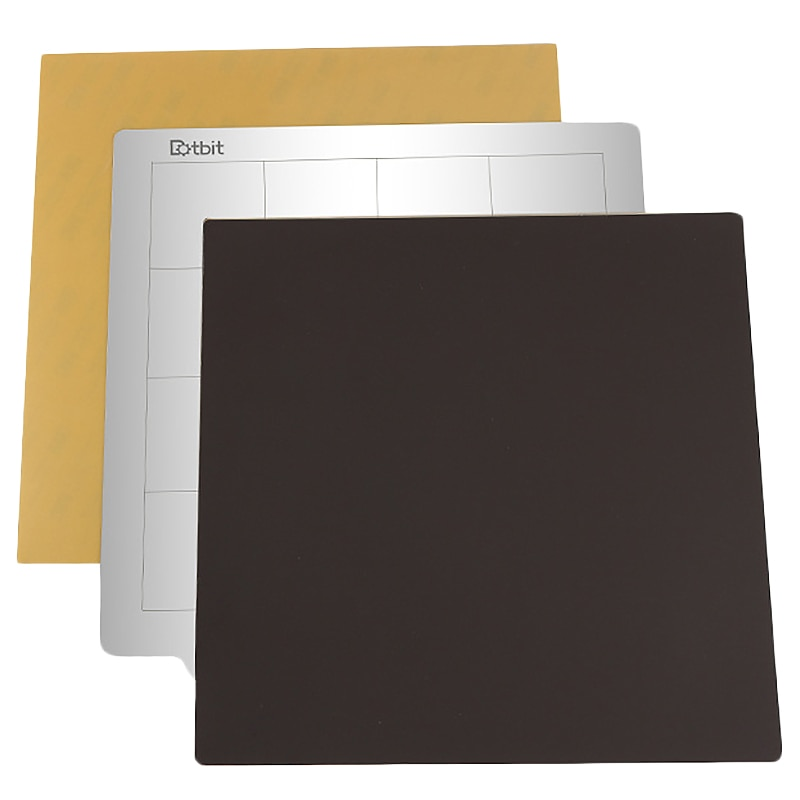 Accesorios de impresión 3D, plataforma de cama caliente Ender 3 Pro, placa de acero de 235x235mm + superficie adhesiva magnética B + Pei para Creality Ender
