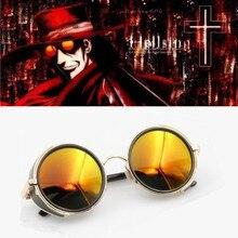 HELLSING Anime Alucard Vampire Hunter Tailored Cosplay Glasses Orange Sunglasses Props