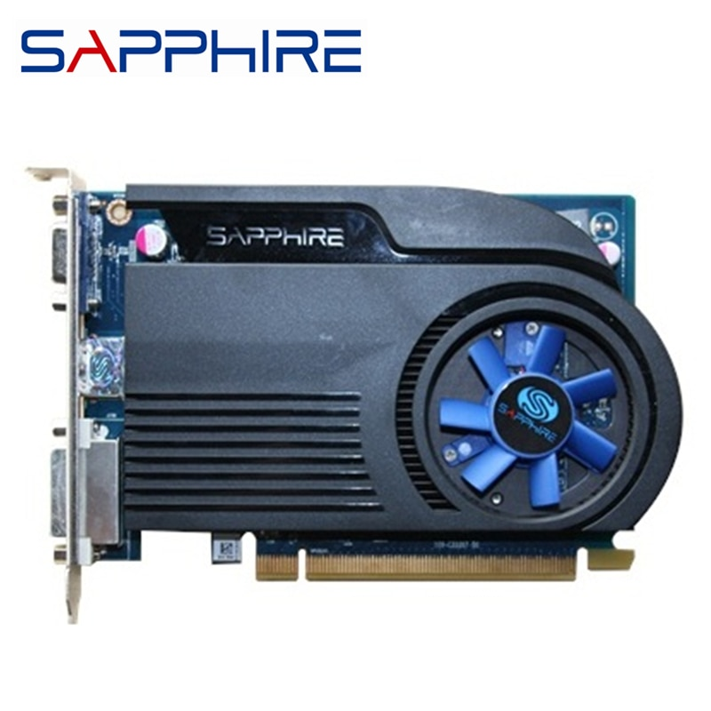 Zafiro HD6570 1GB DDR3 AMD tarjeta gráfica GPU adeon HD 6570 tarjetas de vídeo ordenador de oficina para tarjeta AMD mapa HDMI ahorro de energía