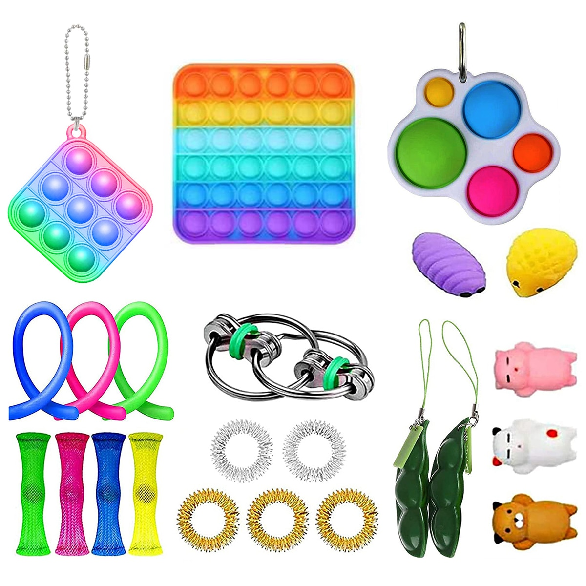 23PCS Sensory Toy Non-toxic And Environmentally Friendly 100% Set Durable Decompression Sress Reliver Toy