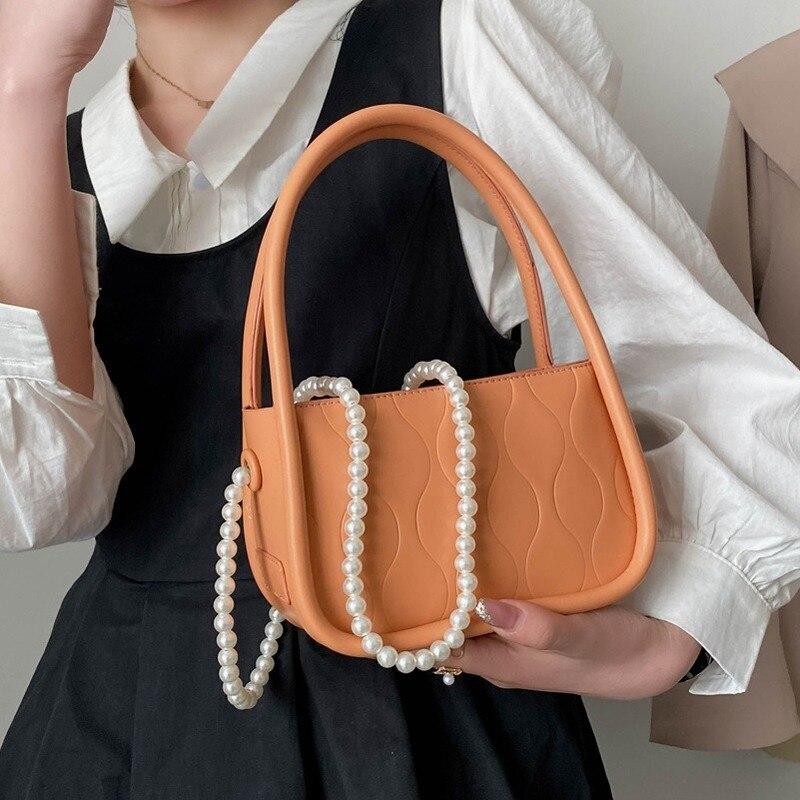High Quality Ladies Pearl Shoulder Bag2021new Trendy Fashion Chain Messenger Bag Korean Version Handbag Net Red Small Square Bag