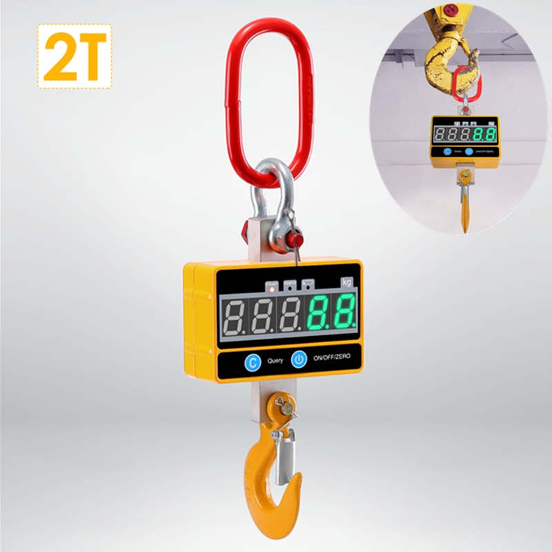 OCS-SE Super Clear Digital Crane Scale 1000kg/2000lb Industrial Heavy Duty Hanging Scale Rechargeable With Remote Control