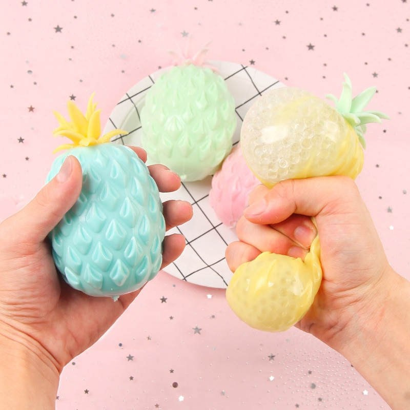 Fidget Toys Fun Soft Pineapple Anti Stress Ball Stress Reliever Toy for Children Adult Simple Dimple Creativity Sensory Toy Gift enlarge