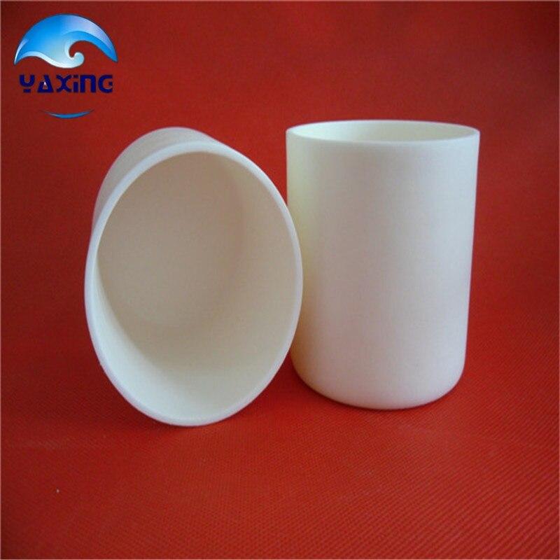Crisol cerámico de alúmina al2o3 de alta pureza dia50x50mm/crisol cilíndrico de corindón/crisol cerámico Al2O3/crisol sinterizado