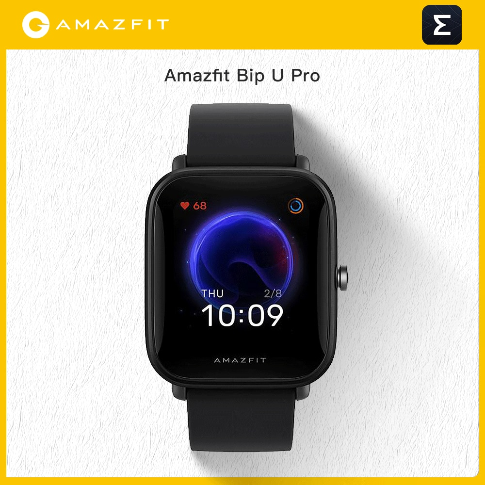 """Promo """"Amazfit Bip U Pro GPS Smartwatch Color Screen 31g 5 ATM Water-resistance 60+ Sports Mode Smart Watch For Android Ios Phone """""""