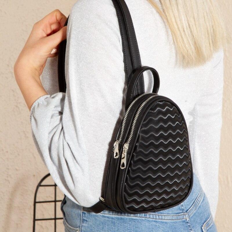 حقيبة ظهر صغيرة لامعة للنساء ، حقيبة صدر صغيرة ، حقيبة سفر ، هاتف خلوي أنيق ، مجموعة جديدة