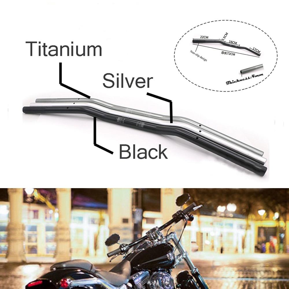 "Manillar Universal de aluminio anodizado, accesorios Retro para motocicleta, manillar de Metal de 7/8 ""22mm, barra de arrastre de reajuste de Scooter de Motocross"