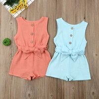 newborn baby girls cute baby girl clothes cotton sleeveless romper jumpsuit overall outfit summer clothes