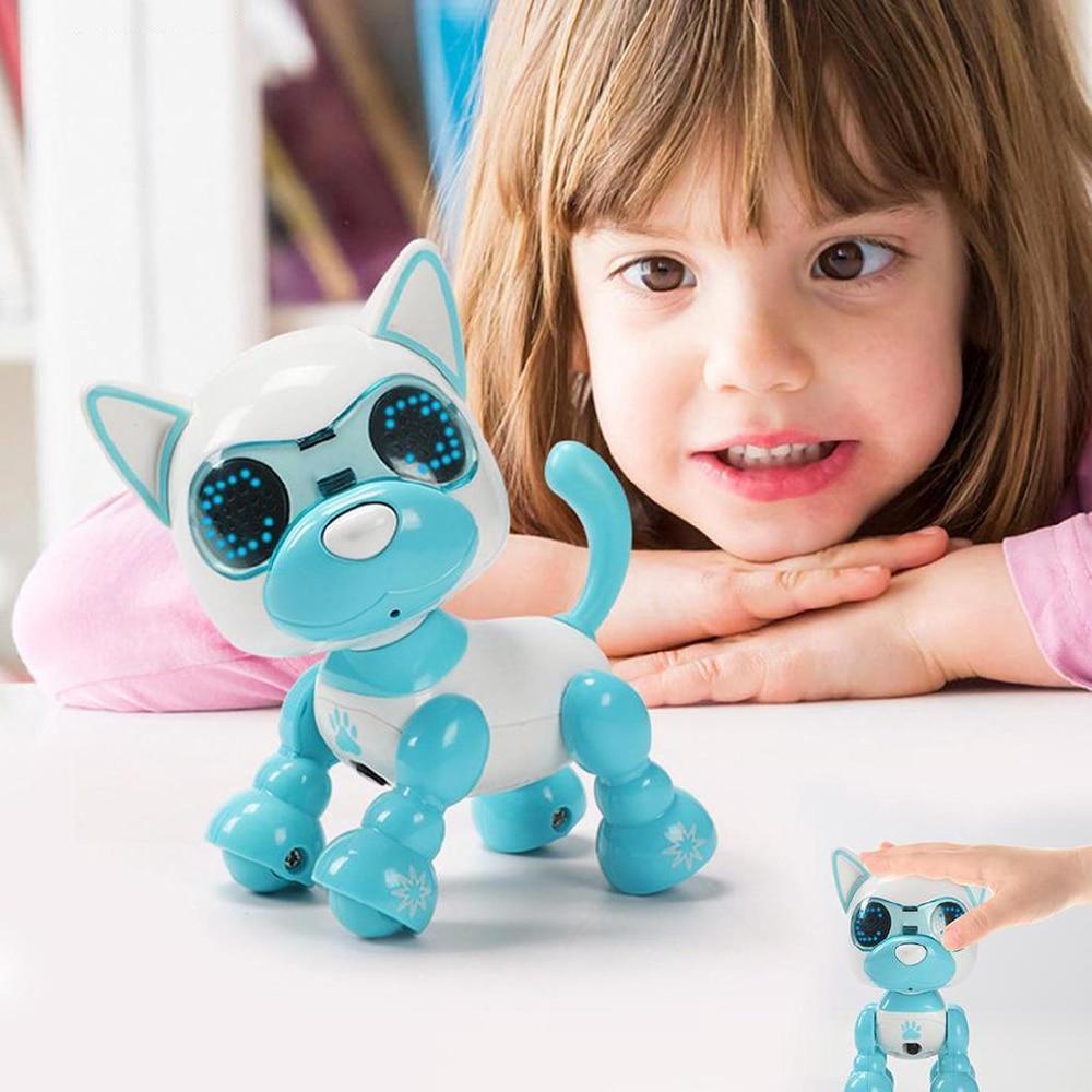 Juguetes electrónicos para mascotas, juguete de Perro Robot con 4 Funciones, Robot de mascota inteligente, Juguetes para perros electrónico interactivo para niños