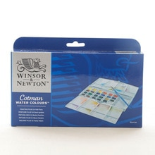 British Imported Windsor Newton Gewen Solid Watercolor Paint Student Grade 24 Color Half Block Aquar