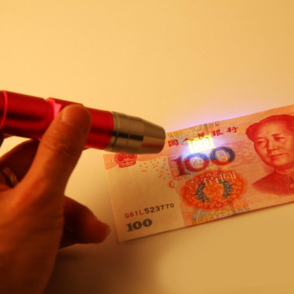 Мини светодиод фонарик 365 нм проверка лампа свет аккумулятор УФ фонарик свет для на открытом воздухе кемпинг пеший туризм