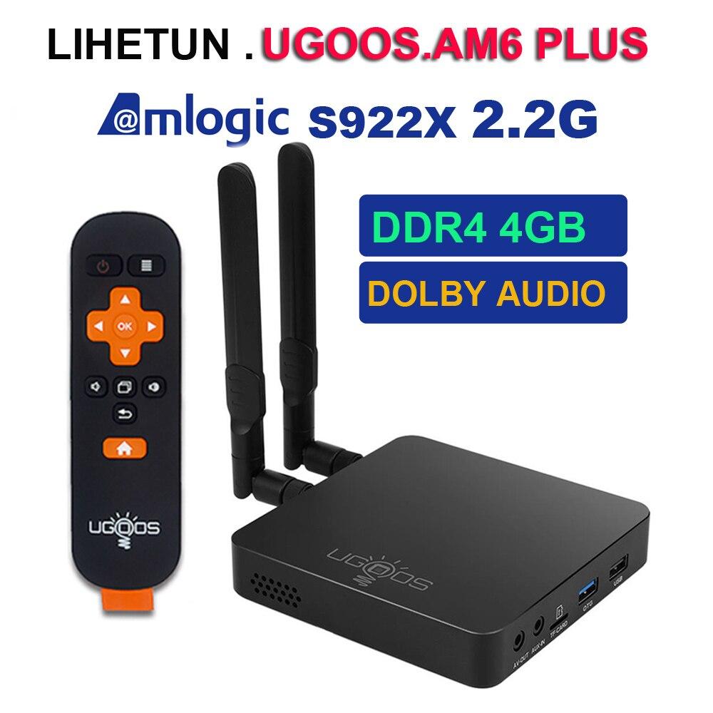 UGOOS AM6 PLUS Android 9.0 TV Box Amlogic S922X 2.2GHz 4GB DDR4 32GB 2.4G 5G WiFi 1000M Bluetooth 4K Dolby Audio Set Top Box