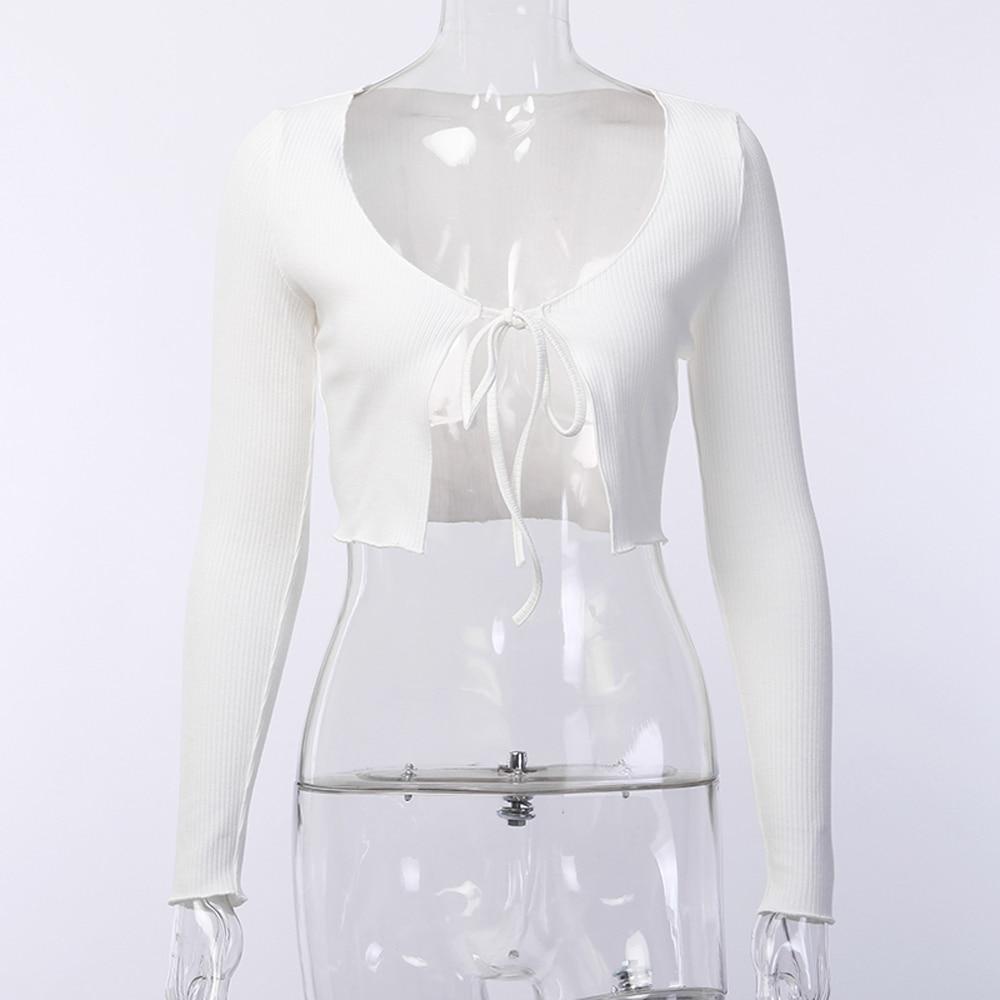 Summer Women Fashion Casual Front Tie Up Cropped Bolero Shrug Women Wrap Open Cardigan Top Daily Street Wear