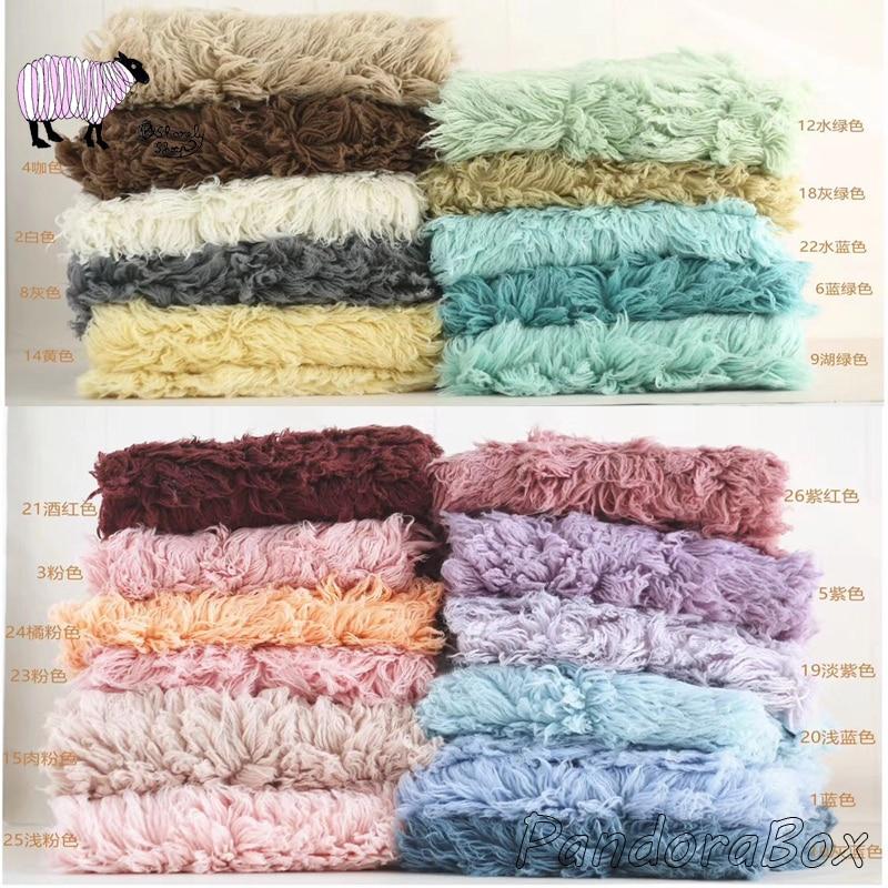 Nouveau-né photographie Flokati laine fourrure couverture accessoires bébé Photoshoot Studio posant la laine grecque décors couverture accessoires de tir