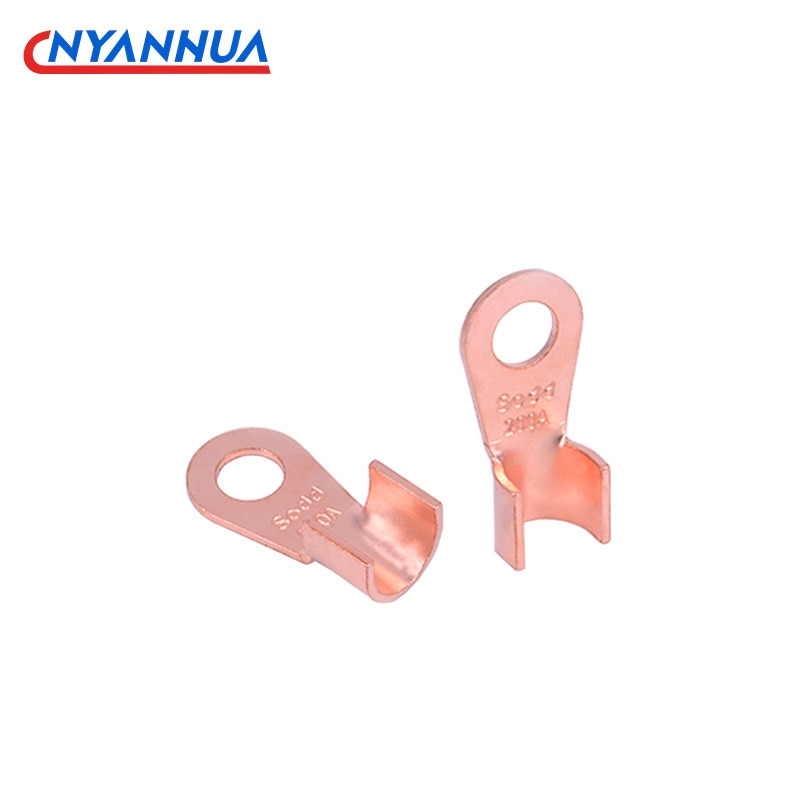 1PC 10/20/30/40/50/60/80/100/150A Terminal OT Series Splice Wire Dia Copper O Shape Circular Naked Battery Cable Connector