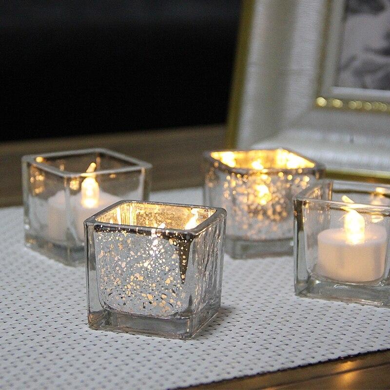 Candelabro sencillo De estilo nórdico para decoración del hogar, Portavelas De Cristal...