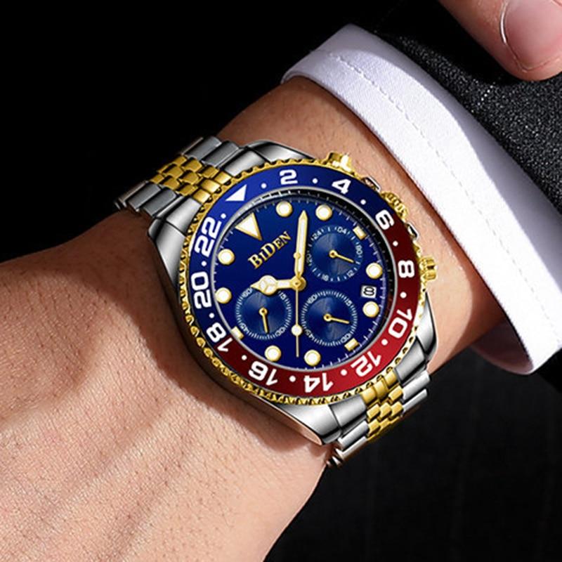 Мужские наручные часы 2021, деловые Кварцевые аналоговые Мужские наручные часы, мужские водонепроницаемые военные спортивные часы