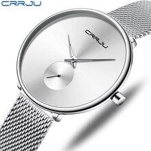 CRRJU femmes montres 2019 de luxe dames montre de mode minimaliste étanche mince bande montres pour les femmes Reloj Mujer