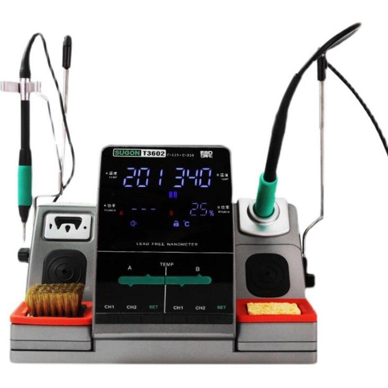 2 في 1 محطة لحام LCD شاشة ديجيتال لحام محطة إعادة صياغة سبيكة لحام