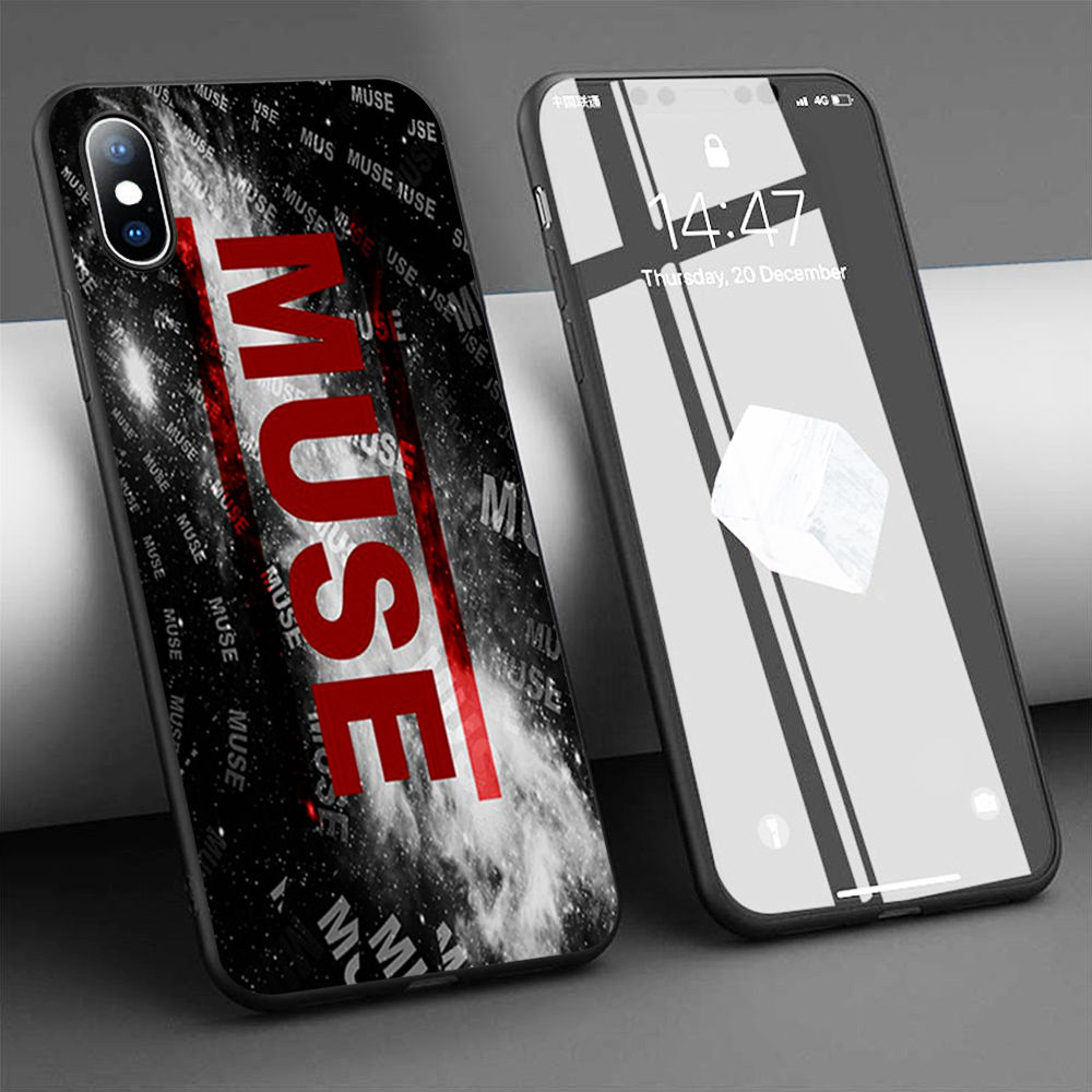 Funda de teléfono de silicona blanda Coque Muse para iPhone 11 Pro Max X 5S 6 6S XR XS Max 7 8 Plus