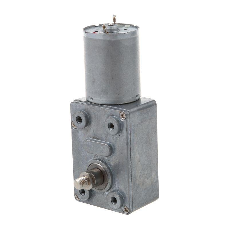 Engranaje de tornillo sin fin de turbina de alto Torque, 5RPM, eje de 12V 6mm CC, Motor de reducción