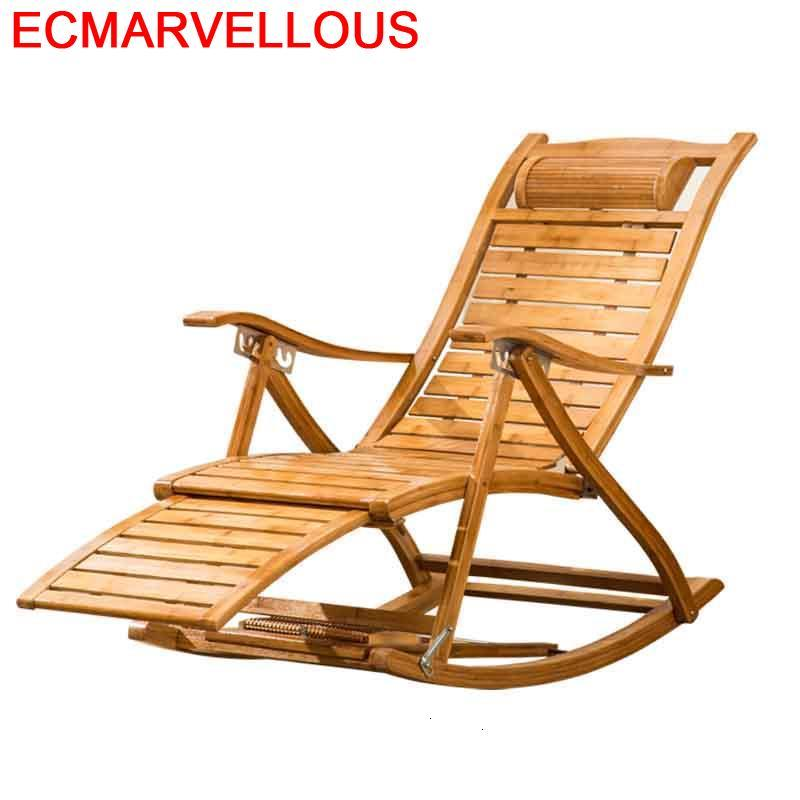 Salotto poltrona reclinável cadeira de balanço sillones moderno para sala de bambu fauteuil salão cama plegable cama dobrável chaise lounge