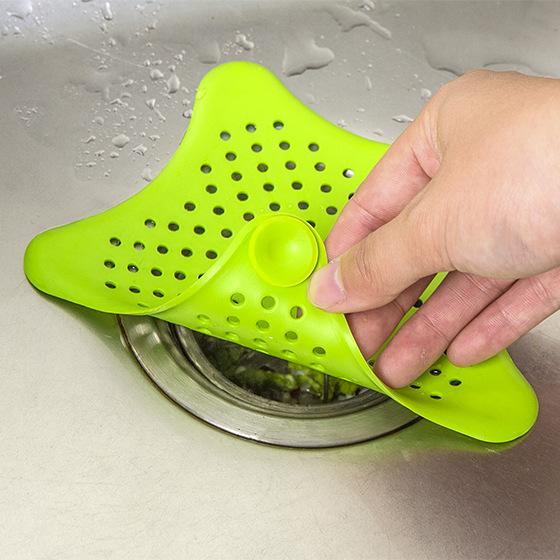 New Cute Home Living Floor Drain Hair Stopper Bath Catcher Sink Strainer Sewer Filter Shower Cover