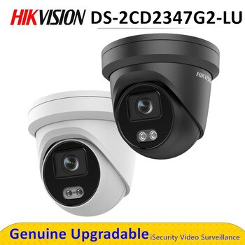 Original Hik 4MP POE ColorVu Camera Security DS-2CD2347G2-LU Outdoor Full Color Built-in Microphone Replace DS-2CD2347G1-LU