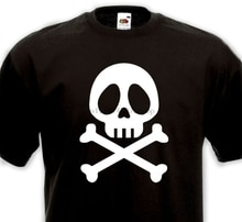 Hot Sale Fashion T Shirt Tete De Mort Albator 80& Annees 80 Manga 1980 Corsaire Vintage Men Streetwear T Shirt 017519